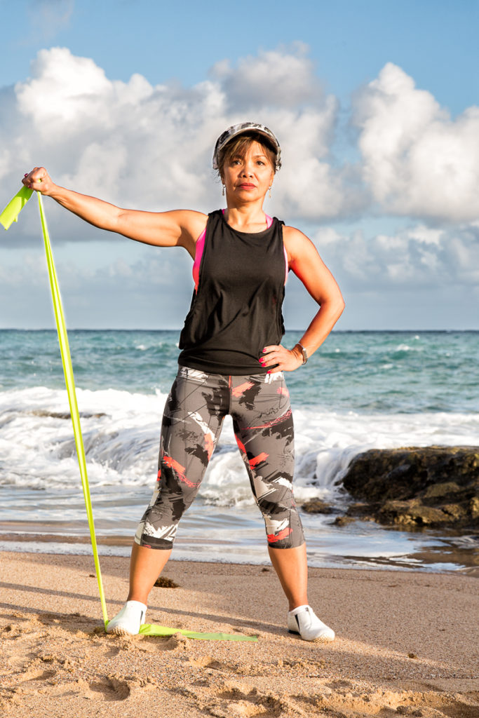 One-Armed Lateral Raise step 2 - Travel with the Band