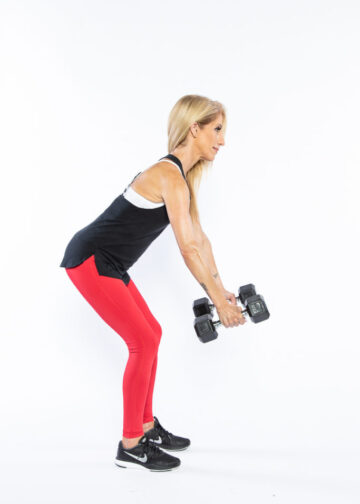 Bent-Over Row step 1 - whole-body workout
