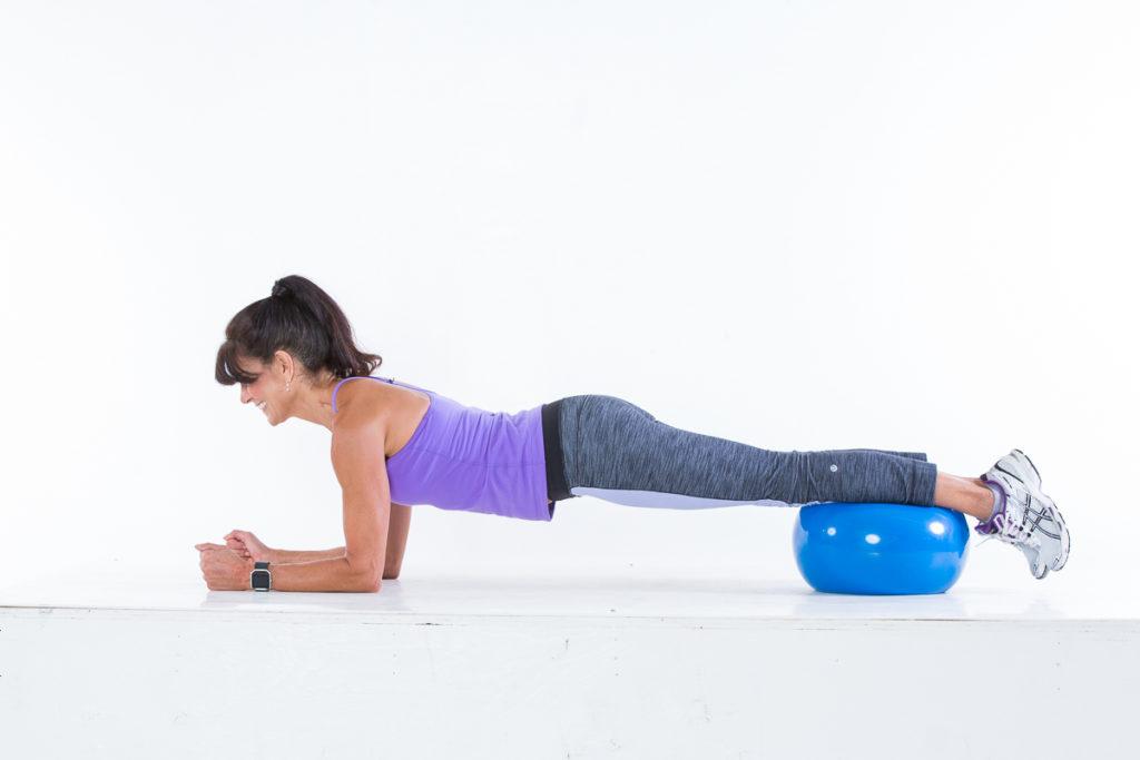 Plank step 1 - Body Ball Cardio