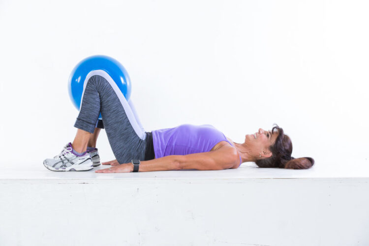 Hip thrust with inner-thigh squeeze step 2