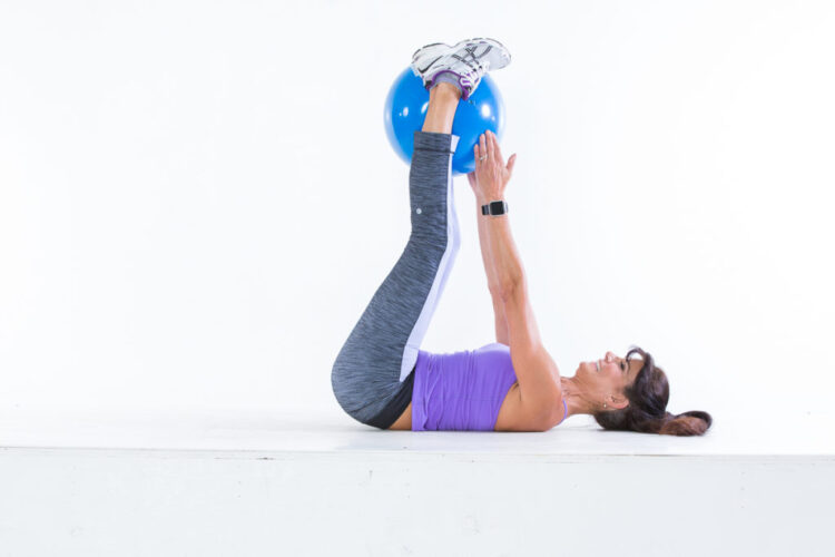 Lower abs straight leg-lifts step 1
