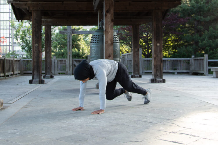 MOUNTAIN CLIMBERS WITH TOE TOUCH - step 7