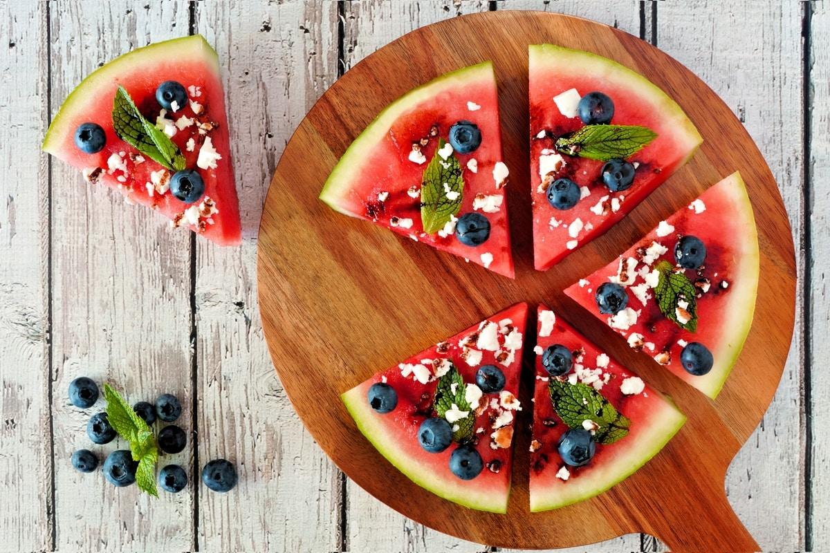 Watermelon And Feta Pizza Recipe